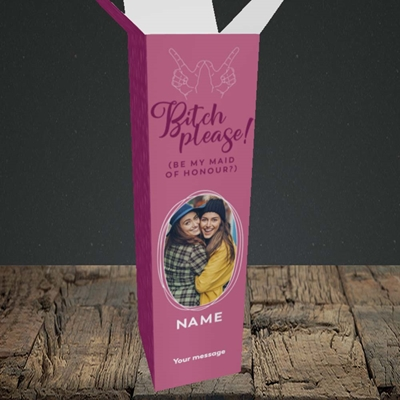 Picture of Bitch Please!, Wedding Design, Upright Bottle Box