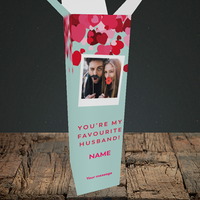 Picture of Favourite Husband, Valentine's Design, Upright Bottle Box