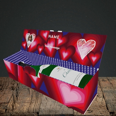 Picture of I Feel You Baby, Valentine's Design, Lay-down Bottle Box