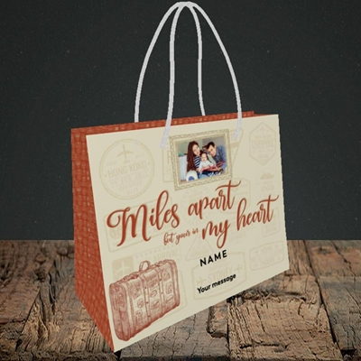 Picture of Miles Apart, Thinking of You Design, Small Landscape Gift Bag