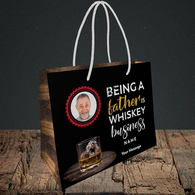 Picture of Whiskey Business, Father's Day Design, Small Landscape Gift Bag