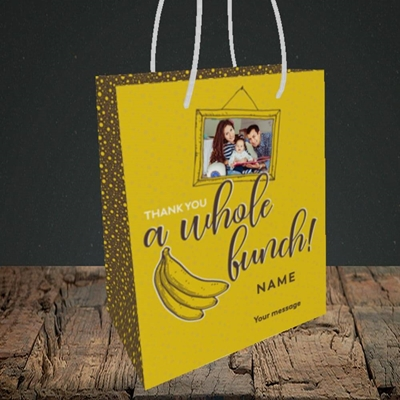 Picture of Whole Bunch, Thank You Design, Small Portrait Gift Bag