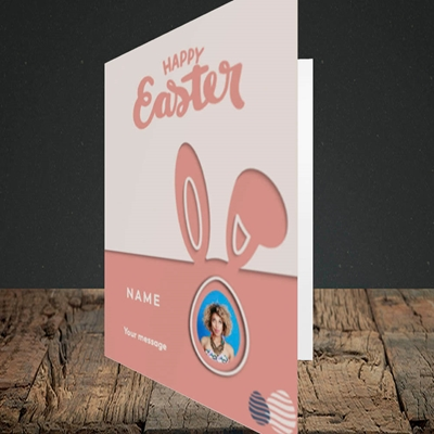 Picture of Ears & Egg, Easter Design, Portrait Greetings Card