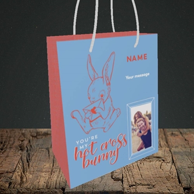 Picture of Hot Cross Bunny, Easter Design, Small Portrait Gift Bag