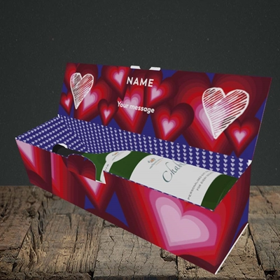 Picture of I Feel You Baby(Without Photo), Valentine's Design, Lay-down Bottle Box