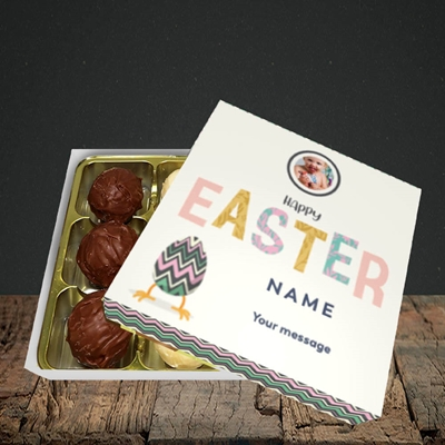 Picture of Happy Walking Egg, Easter Design, Choc 9