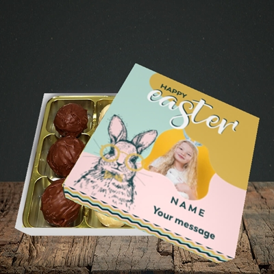 Picture of Bunny With Glasses, Easter Design, Choc 9