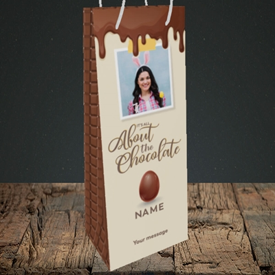 Picture of All About The Chocolate, Easter Design, Bottle Bag