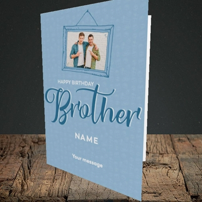 Picture of Brother, Birthday Design, Portrait Greetings Card