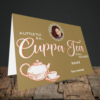 Picture of Cuppa Tea, Get Well Soon Design, Landscape Greetings Card