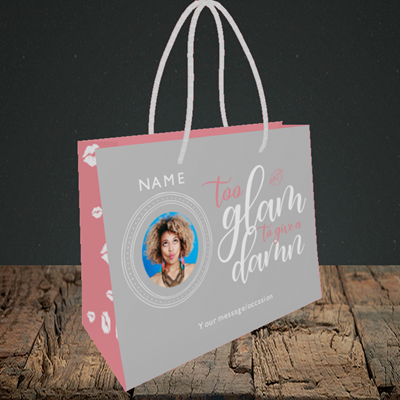 Picture of Glam, Birthday Design, Small Landscape Gift Bag