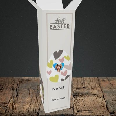 Picture of Egg Of Hearts, Easter Design, Upright Bottle Box