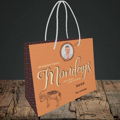 Picture of Mondays, Retirement Design, Small Landscape Gift Bag