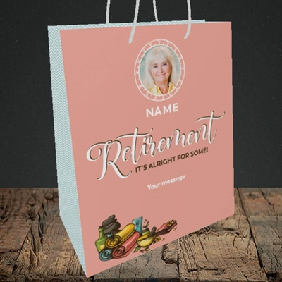 Picture of Retirement Spa, Leaving Design, Medium Portrait Gift Bag