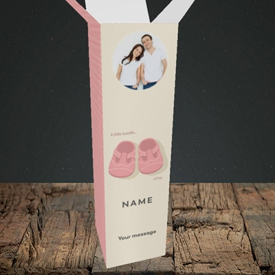 Picture of Little Bundle-Girl, New Baby Design, Upright Bottle Box