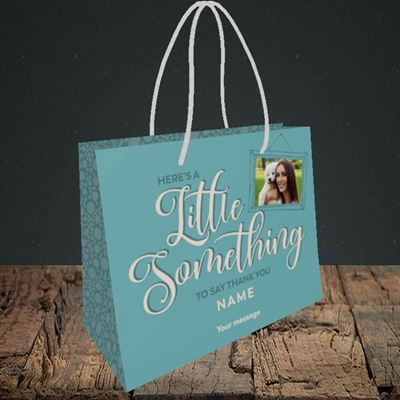 Picture of A Little Something, Thank You Design, Small Landscape Gift Bag
