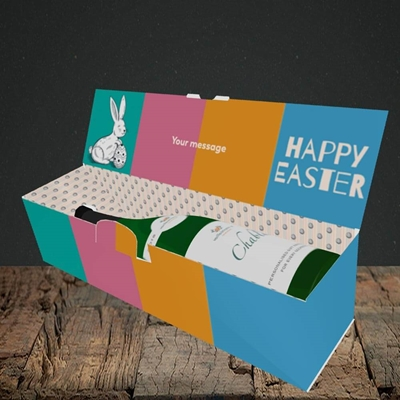 Picture of 4 Colour Bunnies(Without Photo), Easter Design, Lay-down Bottle Box