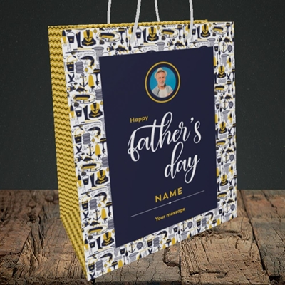 Picture of Seaside, Father's Day Design, Medium Portrait Gift Bag