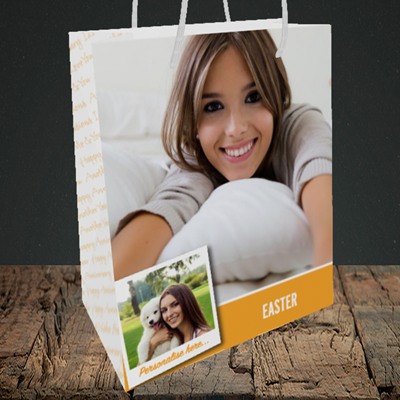 Picture of Photo, Easter Design, Medium Portrait Gift Bag