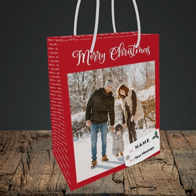 Picture of 1. A Merry Christmas, Large Photo, Christmas Design, Small Portrait Gift Bag