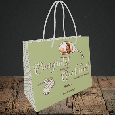 Picture of You Passed, Celebration Design, Small Landscape Gift Bag
