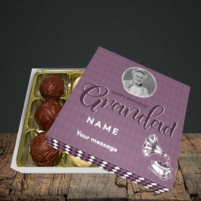 Picture of Grandad Gramophone, Birthday Design, Choc 9