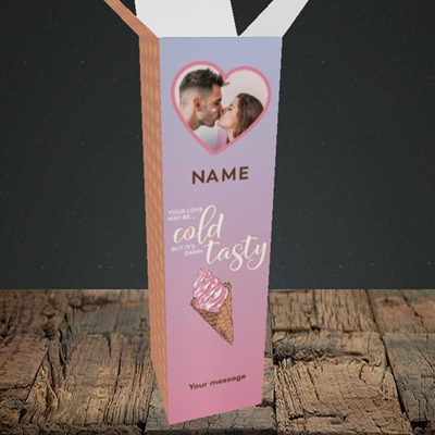 Picture of Cold But Tasty, Valentine's Design, Upright Bottle Box
