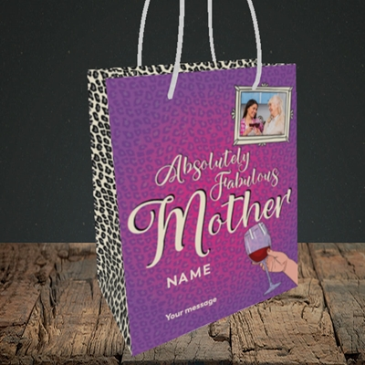 Picture of Absolutely Fabulous, Mother's Day Design, Small Portrait Gift Bag