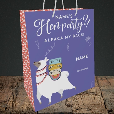 Picture of Alpaca My Bags(Without Photo), Wedding Design, Medium Portrait Gift Bag