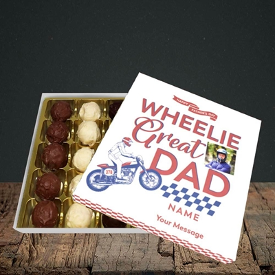 Picture of Wheelie Great Dad, Father's Day Design, Choc 25