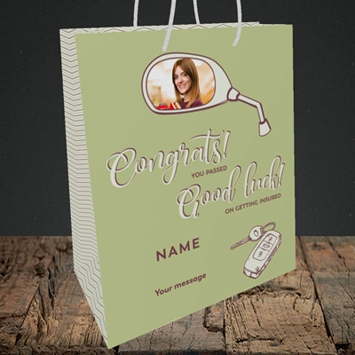 Picture of You Passed, Celebration Design, Medium Portrait Gift Bag