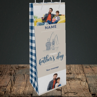 Picture of Father & Son, Father's Day Design, Bottle Bag