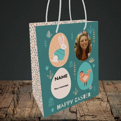 Picture of Easter Egg Farm, Easter Design, Small Portrait Gift Bag