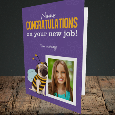 Picture of Bee, New Job Design, Portrait Greetings Card