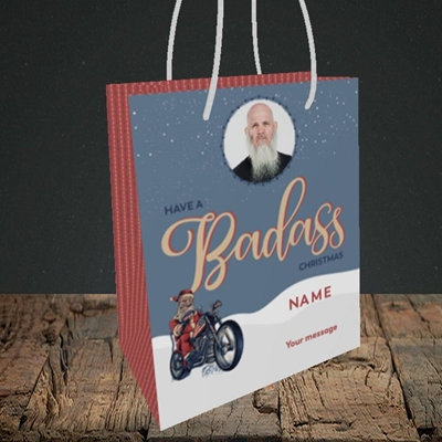 Picture of Badass, Christmas Design, Small Portrait Gift Bag
