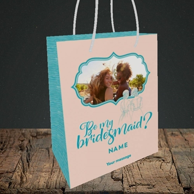 Picture of Be My Bridesmaid, Wedding Design, Small Portrait Gift Bag