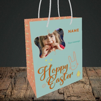 Picture of Hoppy Easter, Easter Design, Small Portrait Gift Bag