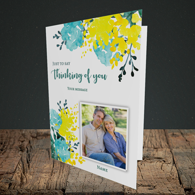 Picture of Watercolour, Thinking of You Design, Portrait Greetings Card
