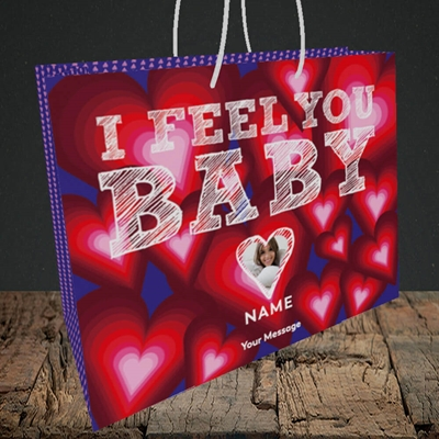 Picture of I Feel You Baby, Valentine's Design, Medium Landscape Gift Bag