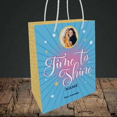 Picture of Time To Shine, Good Luck Design, Small Portrait Gift Bag