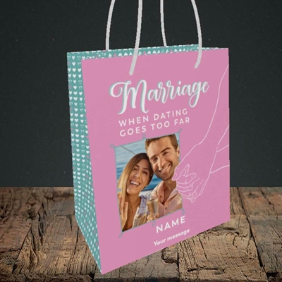 Picture of Dating Goes Too Far, Wedding Design, Medium Portrait Gift Bag