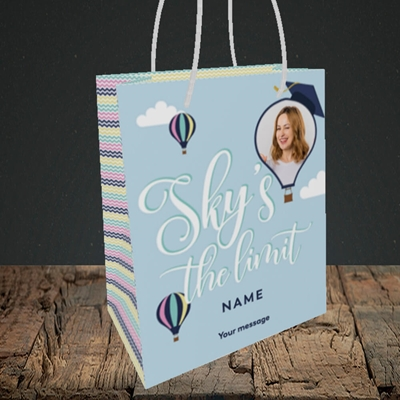 Picture of Sky's the Limit, Graduation Design, Small Portrait Gift Bag
