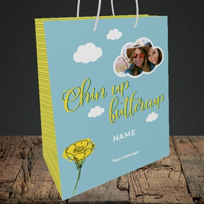 Picture of Chin Up, Thinking of You Design, Medium Portrait Gift Bag