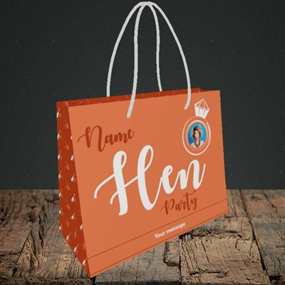 Picture of Hen Party Orange, Wedding Design, Small Landscape Gift Bag