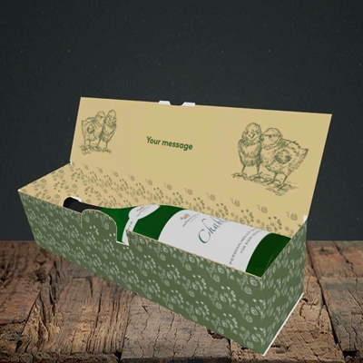 Picture of Cheep, (Without Photo) Easter Design, Lay-down Bottle Box