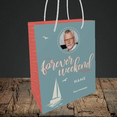 Picture of Forever Weekend, Retirement Design, Small Portrait Gift Bag