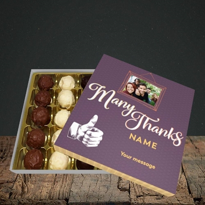 Picture of Many Thanks, Thank You Design, Choc 25