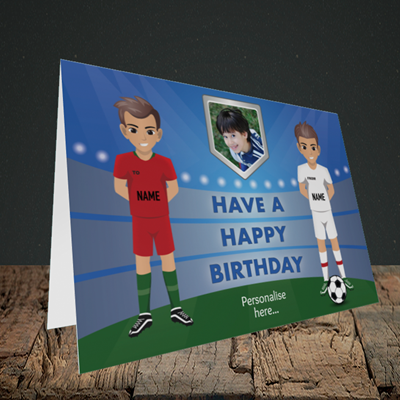 Picture of Football, Birthday Design, Landscape Greetings Card