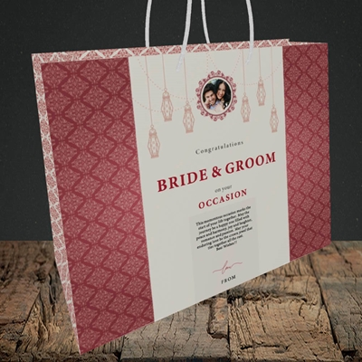 Picture of Moroccan Influences Red B&G, Wedding Design, Medium Landscape Gift Bag