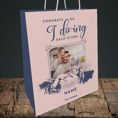 Picture of I Do-ing, Wedding Design, Medium Portrait Gift Bag